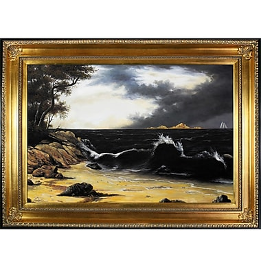 Tori Home Storm Clouds Over The Coast by Martin Johnson Heade Framed Painting