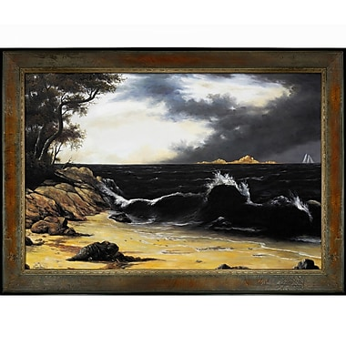 Tori Home Heade Storm Clouds Over The Coast Framed Painting