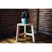 Housefish Tercet 17.5'' Stool; Maple