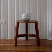 Housefish Tercet 17.5'' Stool; Walnut