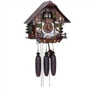 Schneider 12.5'' Chalet 8-Day Movement Cuckoo Clock w/ Wood Chopper