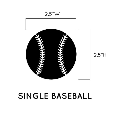 Dana Decals Baseball Pattern Baseballs Wall Decal (Set of 50); Brown / Black