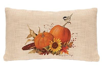 Heritage Lace Harvest Pumpkin Lumbar Pillow