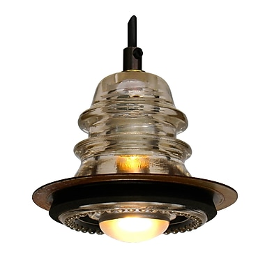 Railroadware Insulator Light Pendant Metal ring 5?, 20V 40W, dimming