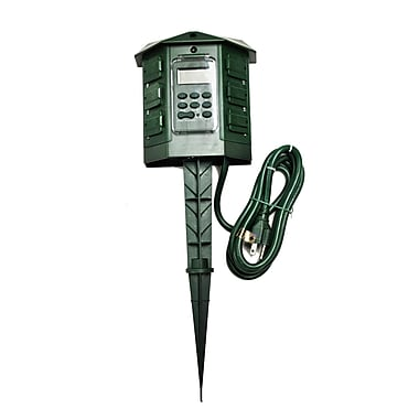Queens of Christmas Outdoor 6 Outlet Programmable Timer