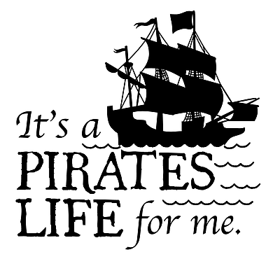 Dana Decals Pirates Life for Me Quote Small Wall Decal