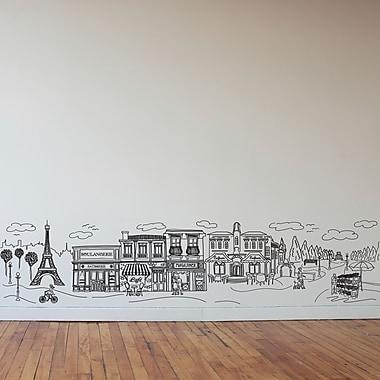 Dana Decals Doodle Paris Scene Small Wall Decal