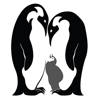 Dana Decals Penguin Family Wall Decal