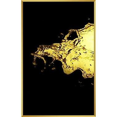 PTM Images Gold Splash Inverse Framed Graphic Art