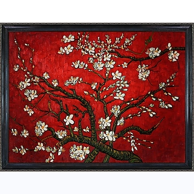 Tori Home Branches of an Almond Tree in Blossom by Vincent Van Gogh Framed painting in Red