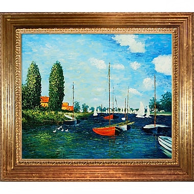 Tori Home Argenteuil by Claude Monet Framed Painting