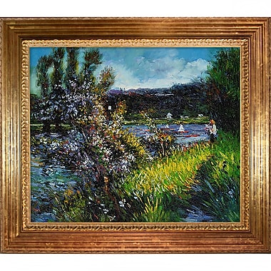 Tori Home The Seine at Chatou by Pierre-Auguste Renoir Framed painting