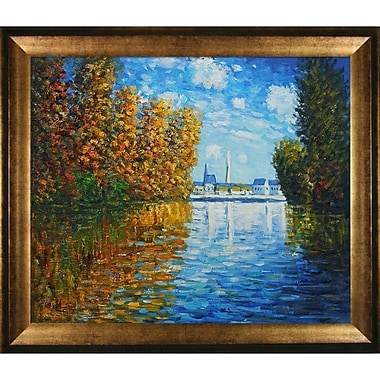 Tori Home Autumn at Argenteuil by Claude Monet Framed painting