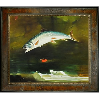 Tori Home Homer Jumping Trout Framed painting