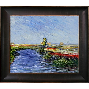 Tori Home Tulip Field in Holland by Claude Monet Framed painting
