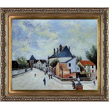 Tori Home Street in Moret by Alfred Sisley Framed Painting Print
