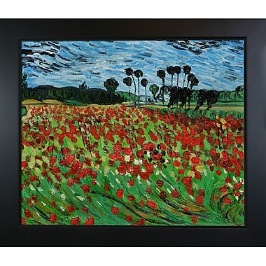 Tori Home Field of Poppies by Vincent Van Gogh Framed Painting