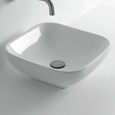 WS Bath Collections Ciotola Square Vessel Bathroom Sink