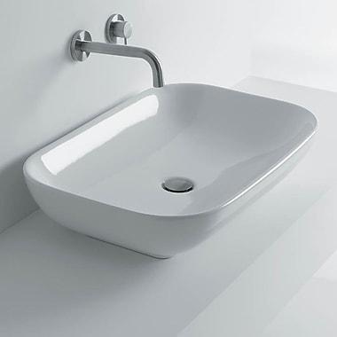 WS Bath Collections Ciotola Rectangular Vessel Bathroom Sink