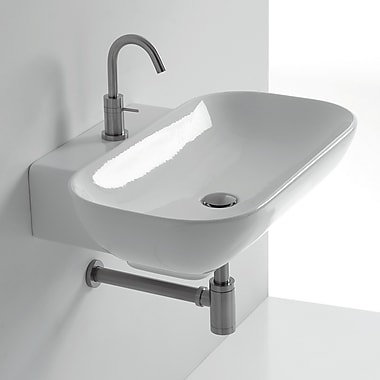 WS Bath Collections Ciotola Rectangular Vessel Bathroom Sink