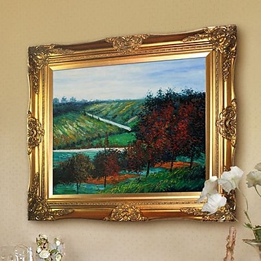 Tori Home Apple Trees in Bloom at Vetheuil 1887 by Claude Monet Framed Painting