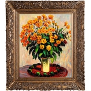 Tori Home Vase of Chrysanthemums by Claude Monet Framed Painting
