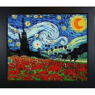 Tori Home Starry Poppies Collage by Vincent Van Gogh Framed Painting