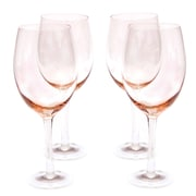 Certified International Glass Stemware 20 Oz. Peach White Wine Glasses (Set of 4)