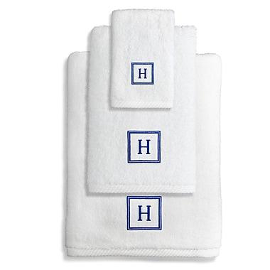 Linum Home Textiles Personalized Soft Twist 3 Piece Towel Set; H