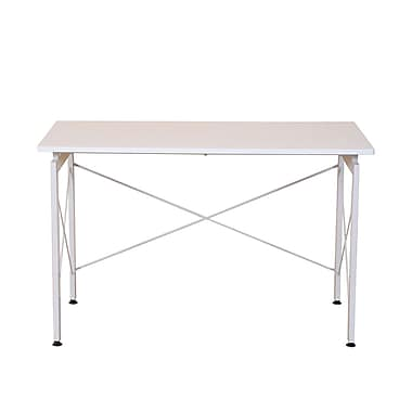 HomCom Modern Writing Desk; White