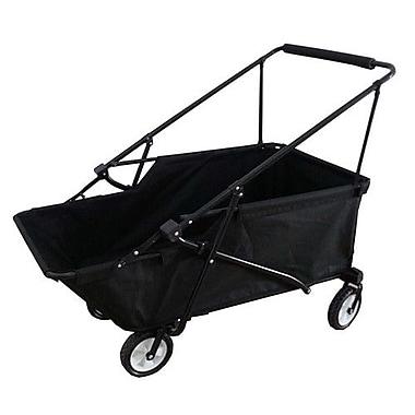 ImpactCanopy Folding Wagon Utility Cart; Black