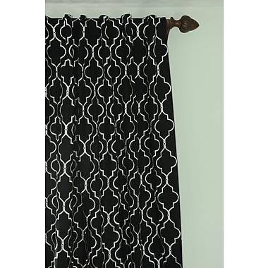 Art Home Geometric Semi-Sheer Rod Pocket Single Curtain Panel