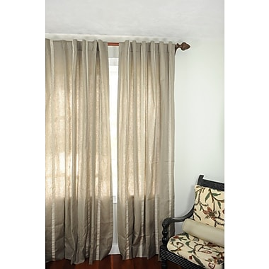 Art Home Sorrento Striped Sheer Rod Pocket Single Curtain Panel