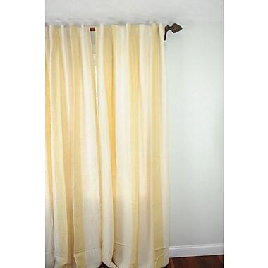 Art Home Striped Semi-Sheer Rod Pocket Single Curtain Panel