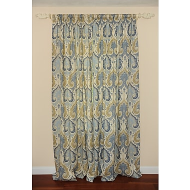 Art Home Kravet Latika Delta Damask Semi-Sheer Rod Pocket Single Curtain Panel
