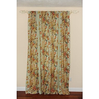 Art Home Kravet Lorton Burne Decorative Nature/Floral Semi-Sheer Rod Pocket Single Curtain Panel