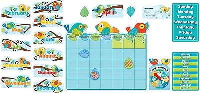 Carson-Dellosa™ 78 Piece Boho Birds Calendar Bulletin Board Set, Grades PreK - 3