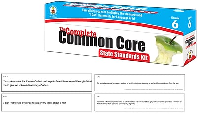 The Complete Common Core State Standards Kit for Language Arts Grade 6 Pocket Chart Cards (158054)