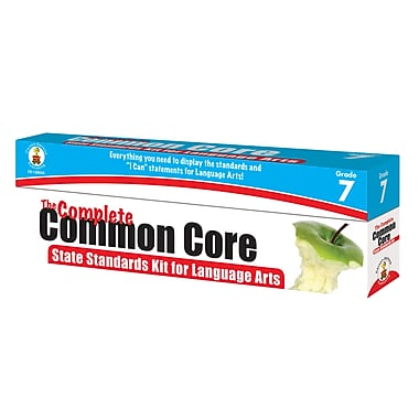 The Complete Common Core State Standards Kit for Language Arts Grade 7 Pocket Chart Cards (158055)