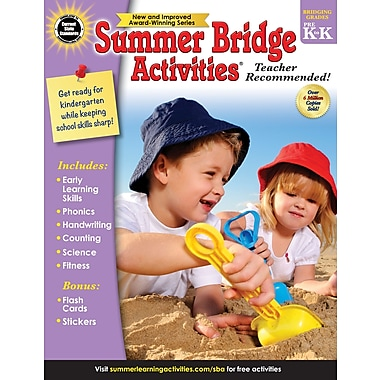 Carson-Dellosa Summer Bridge Activities Summer Bridge Activities and Bridging Grade Pre-K and K Workbook (704695)
