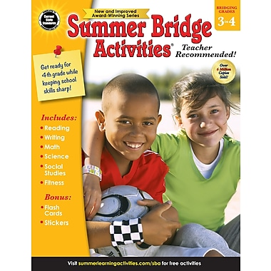 Carson-Dellosa Summer Bridge Activities Summer Bridge Activities and Bridging Grade 3 and 4 Workbook (704699)