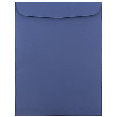 JAM Paper® 9 x 12 Open End Catalog Envelopes. Presidential Blue, 25/pack (263917110)