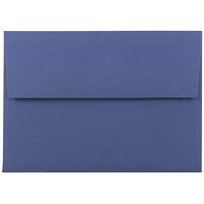 JAM Paper® A6 Invitation Envelopes, 4.75 x 6.5, Presidential Blue, 50/pack (563916906I)