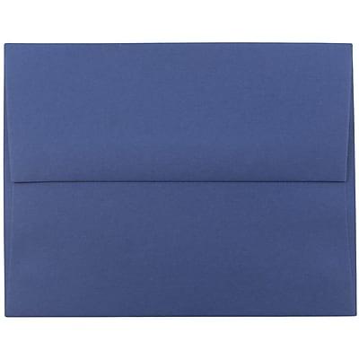 JAM Paper® A2 Invitation Envelopes, 4 3/8 x 5 3/4, Presidential Blue, 250/box (563913396H)
