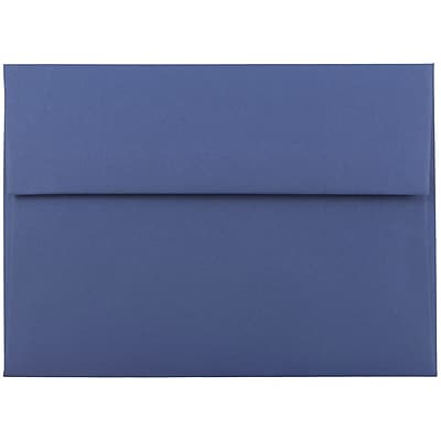 JAM Paper® A7 Invitation Envelopes, 5.25 x 7.25, Presidential Blue, 250/box (563913397H)
