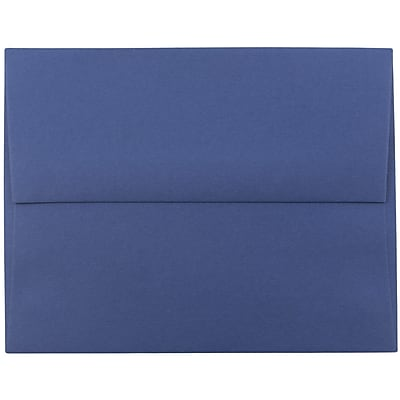 JAM Paper® A9 Invitation Envelopes, 5.75 x 8.75, Presidential Blue, 250/box (563916910H)
