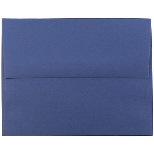 JAM Paper® A9 Invitation Envelopes, 5.75 x 8.75, Presidential Blue, Bulk 1000/Carton (563916910B)