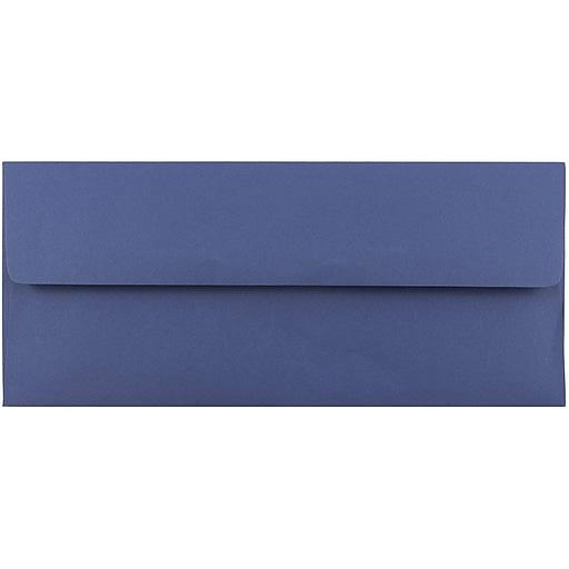 JAM Paper® #10 Business Envelopes, 4.125 x 9.5, Presidential Blue, 50/Pack (463916900I)