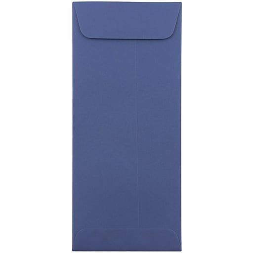 JAM Paper® #10 Policy Business Envelopes, 4.125 x 9.5, Presidential Blue, 25/Pack (263912999)