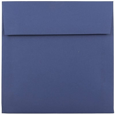 JAM Paper® 6 x 6 Square Envelopes, Presidential Blue, 25/pack (563916914)